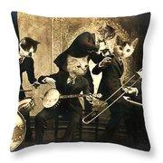 Hep Cats Throw Pillow
