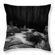 Hepokongas Waterfall Bw Throw Pillow