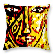 Her Multicultural Face Throw Pillow