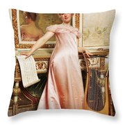Her Music Lesson Throw Pillow