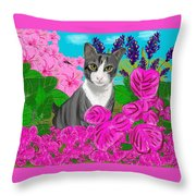 Hercules In The Garden Throw Pillow