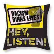 Hey, Listen Up Throw Pillow