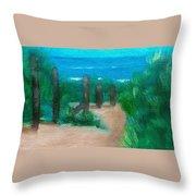 Hidden Beach Throw Pillow