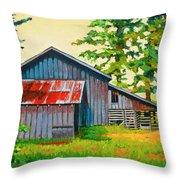 Hidden Sheep Barn Throw Pillow