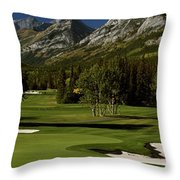 High Angle View Of A Golf Course, Mt Throw Pillow
