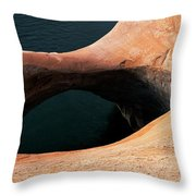 High Angle View Of A Pothole Arch Throw Pillow