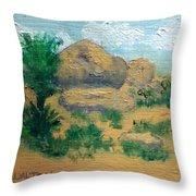 High Desert Rock Garden Throw Pillow