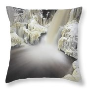 High Falls Pool Throw Pillow