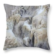 High Falls, Smaller Waterfall Throw Pillow