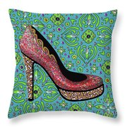 High Heel Party Throw Pillow