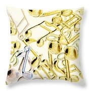 High Key Harmony Throw Pillow
