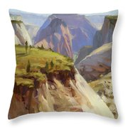 High On Zion Throw Pillow by Steve Henderson