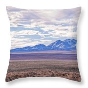 High Plains And Majestic Mountains Throw Pillow