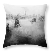 High Society Throw Pillow by ISAW Company