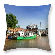 Hightide At Delhaven  Throw Pillow