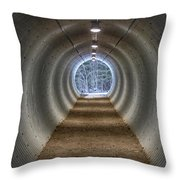 Highway Underpass In Pigeon River Provincial Park Throw Pillow