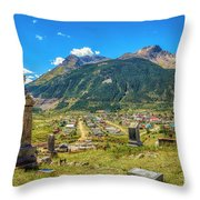Hillside Cemetery Of Silverton Colorado Throw Pillow