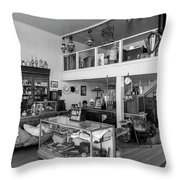 Hindsman General Store - Allensworth State Park - Black And White Throw Pillow