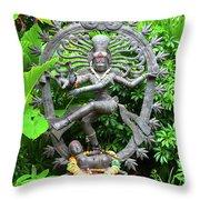 Hindu Statue  Throw Pillow
