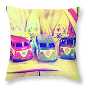 Hippie Holidays Throw Pillow
