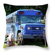 Hippie Parking Only Throw Pillow