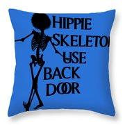 Hippie Skeletons Use Back Door Png Throw Pillow