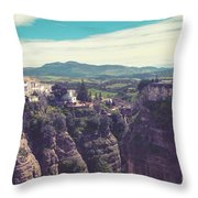 historical village of Ronda, Spain Throw Pillow by Ariadna De Raadt