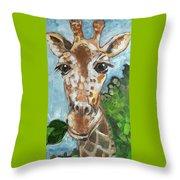 Hobbes Giraffe Throw Pillow