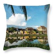 Hoi An Riverside Throw Pillow