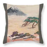 Hoitsu Through The Eyes Of Modernity Turned Backward Throw Pillow
