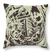 Holding Helm Throw Pillow