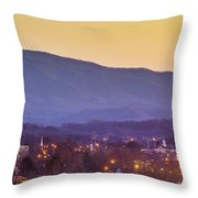 Holston Mountain Over Tennessee High Throw Pillow