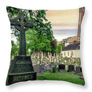 Holy Cross Cemetery And Our Lady Of Sorrows Chapel Throw Pillow