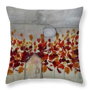 Home In The Woods Throw Pillow by Kim Nelson