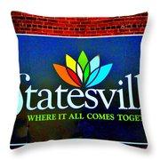 Hometown Street Art Throw Pillow