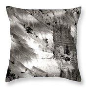 Hoodoo's Black White Utah  Throw Pillow