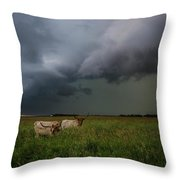 Horns Throw Pillow