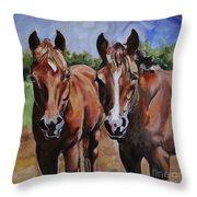Horse Art  Throw Pillow