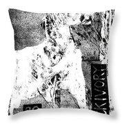 Horse Front 3 Throw Pillow