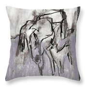 Horse In A Field Throw Pillow