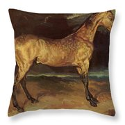 Horse In The Storm 1821 Throw Pillow
