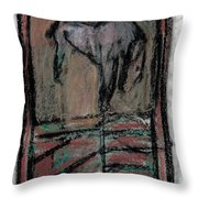 Horse Stables Throw Pillow