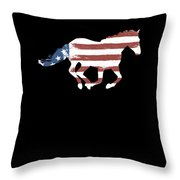 Horse Usa Patriotic Horse Silhouette Equestrian Riders Gift Light Throw Pillow