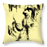 Horsemen On Yellow Throw Pillow