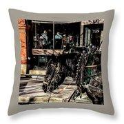 022 - Horses Throw Pillow