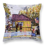 Hot Dogz Throw Pillow