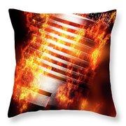 Hot Mic Throw Pillow