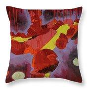 Hot Red Throw Pillow by Mark Jordan