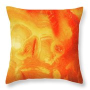 Hot Skull Throw Pillow