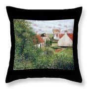 Houses At Knocke, Belgium, 1894 Throw Pillow